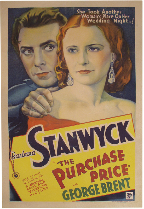 The Purchase Price, Barbara Stanwyck