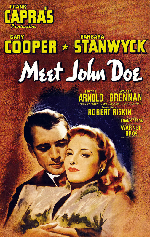 Meet John Doe, 1941, Theatrical Release Poster