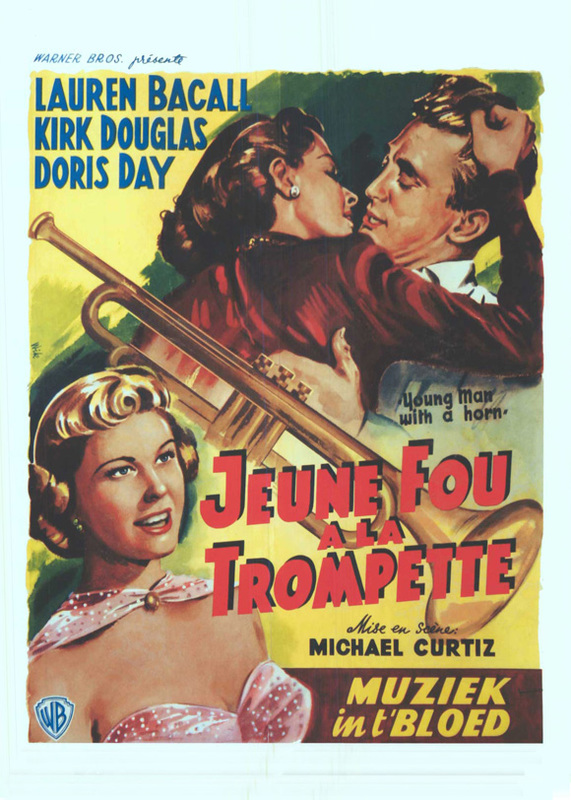 Young Man with a Horn, Belgian movie poster